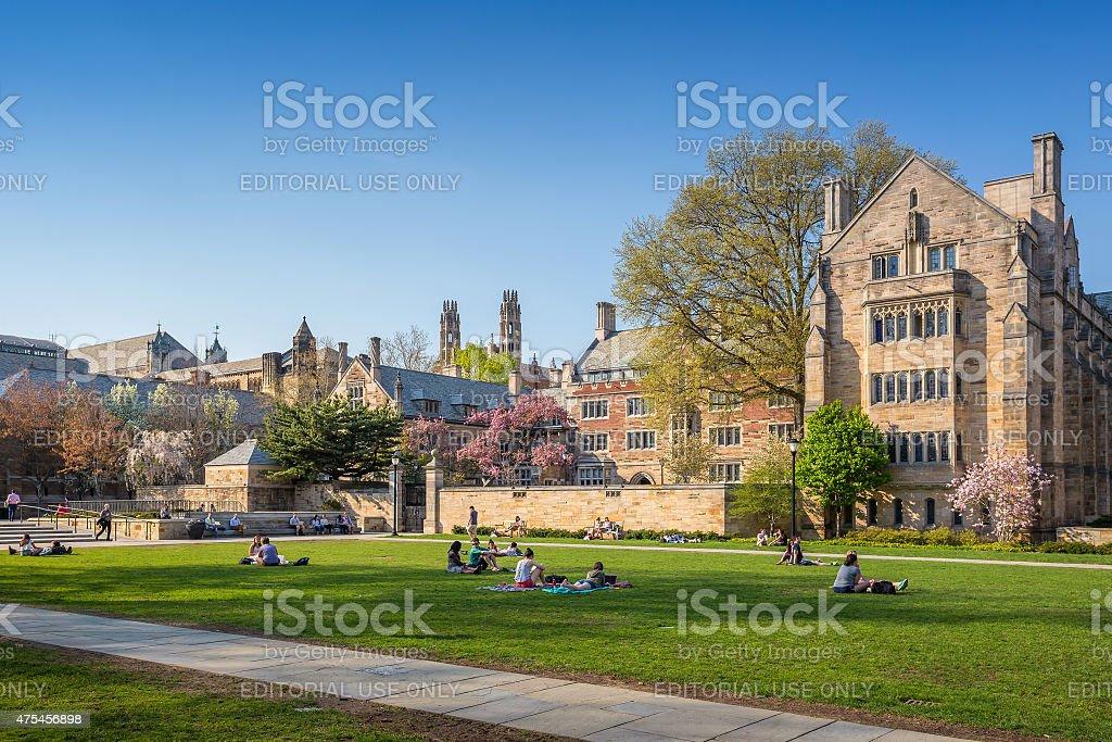Yale University campus stock photo