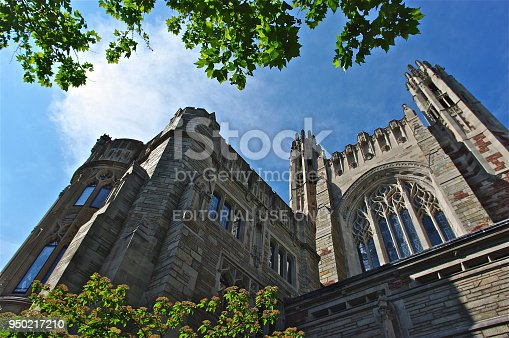 New Haven, USA - June 8, 2011: Yale University campus on April 4, 2015. It is a private Ivy League research university in New Haven, Connecticut. Founded in 1701.