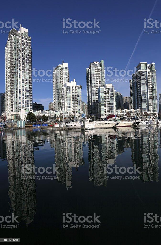 Yaletown Marina royalty-free stock photo