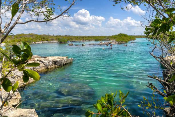 Yal-Ku Lagoon, Mexico stock photo