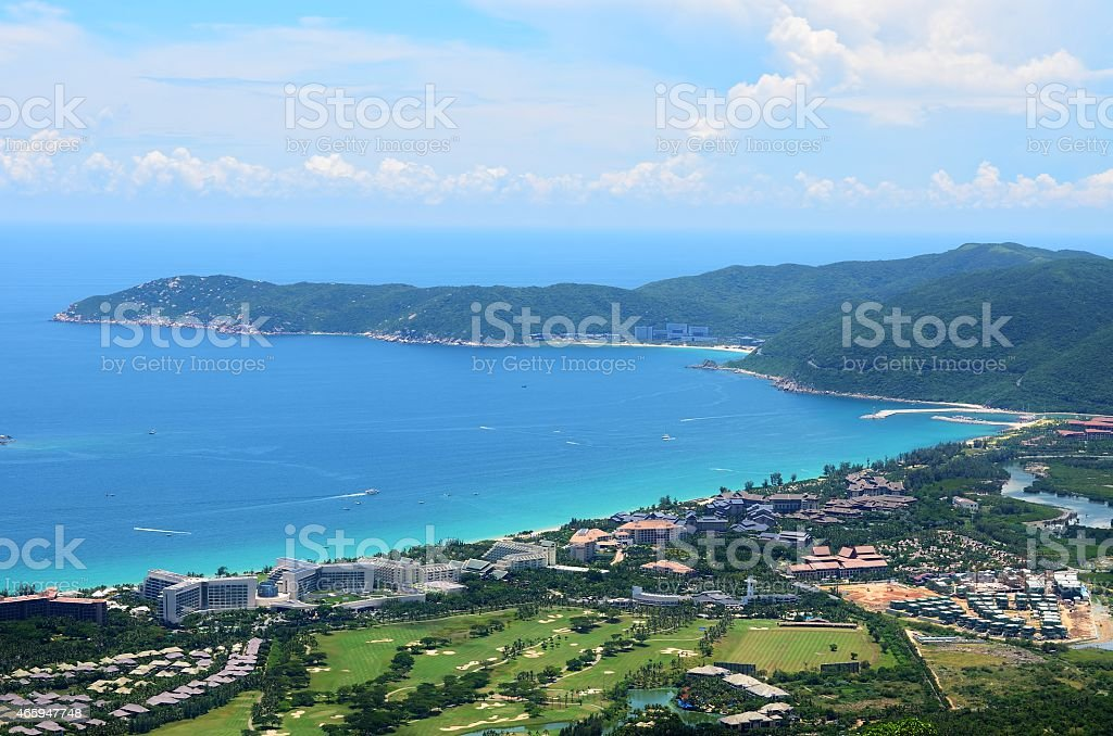 Yalong Bay Tropical Paradise Forest Park - beautiful views stock photo