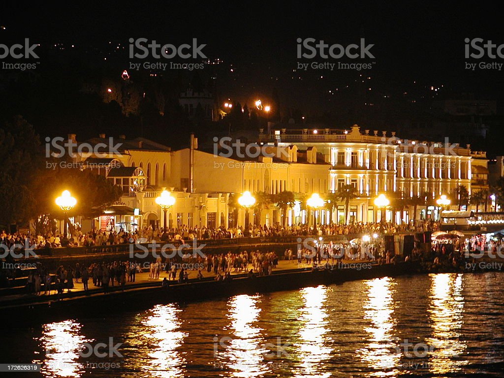 Yalta by night royalty-free stock photo