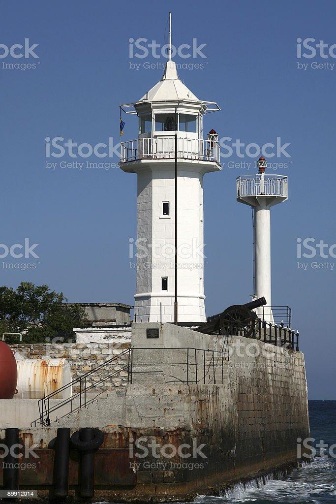 Yalta's Lighthouse, Ukraine royalty-free stock photo