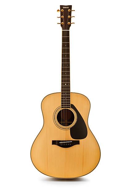 Yamaha Acoustic Guitar stock photo
