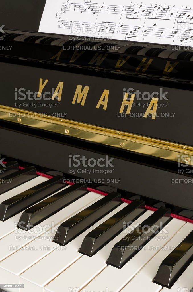 Yamaha piano keys royalty-free stock photo