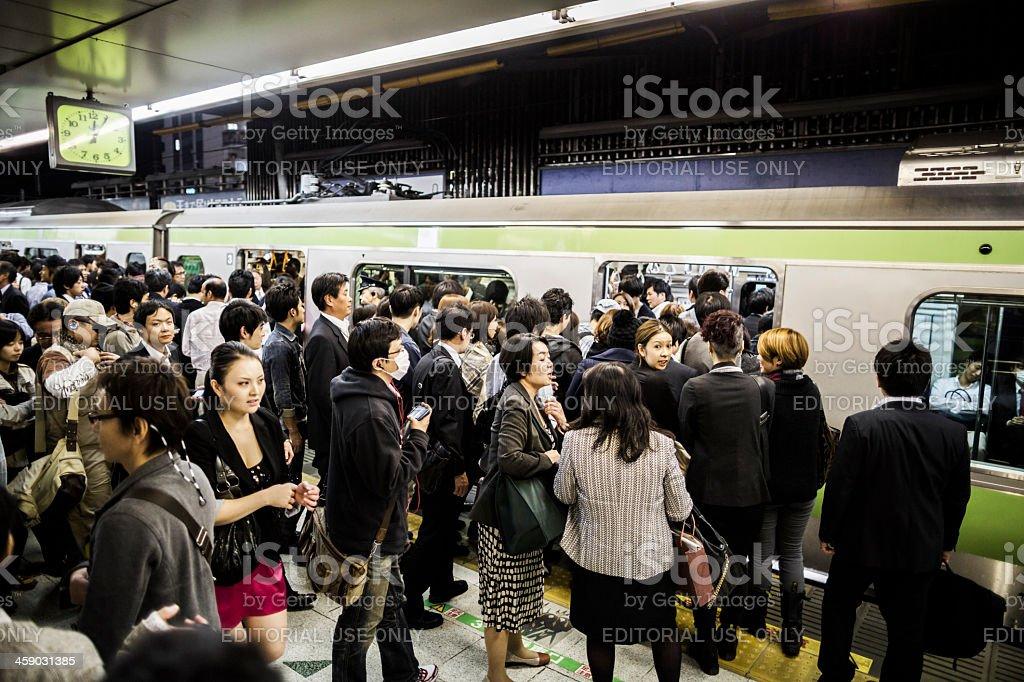 Yamanote Line in Tokyo Japan stock photo