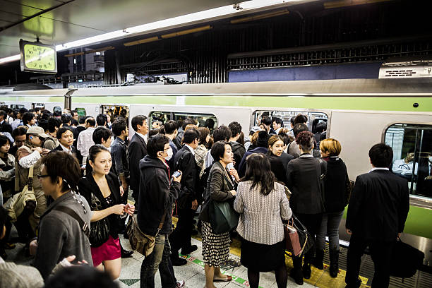 yamanote line in tokyo japan - aluxum stock pictures, royalty-free photos & images