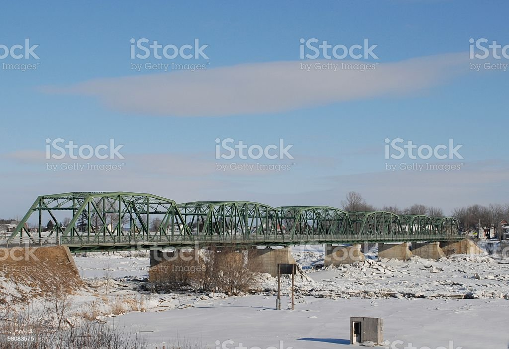 Yamaska Bridge royalty-free stock photo