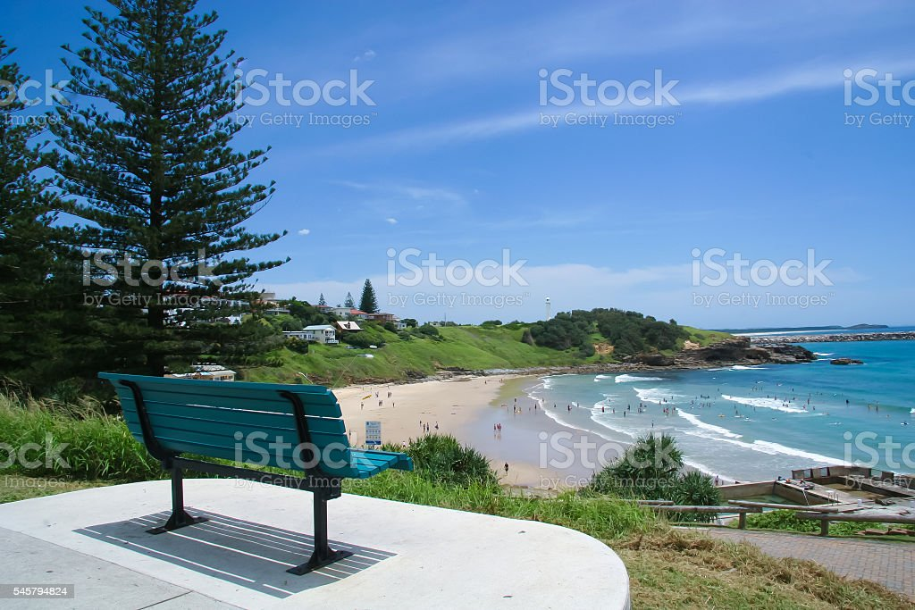Yamba Beach Northern New South Wales Australia stock photo