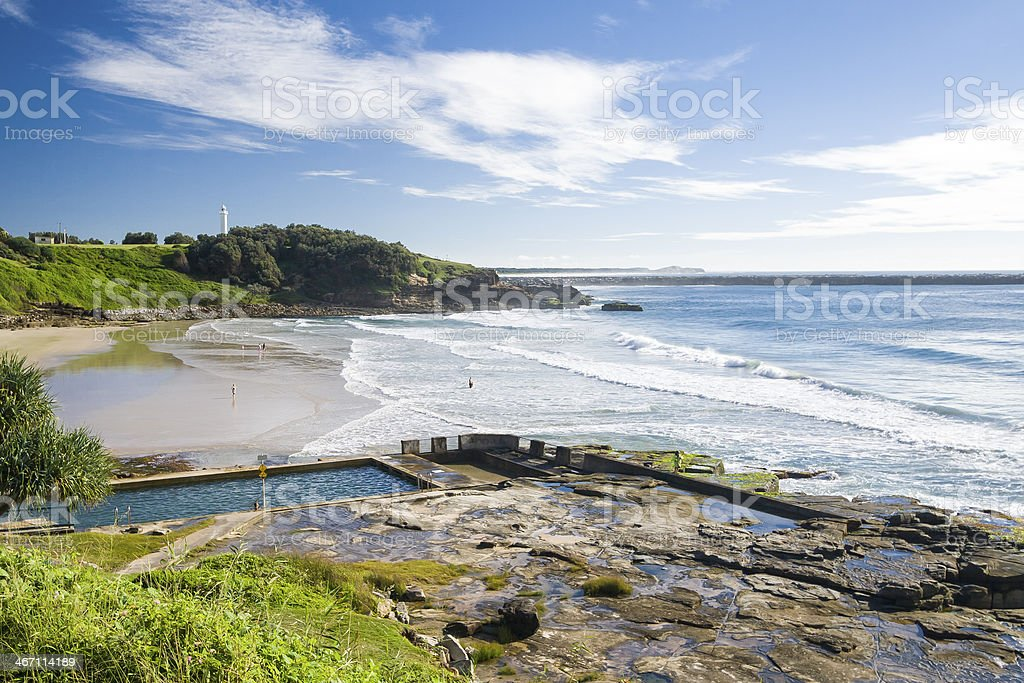 Yamba Beach stock photo