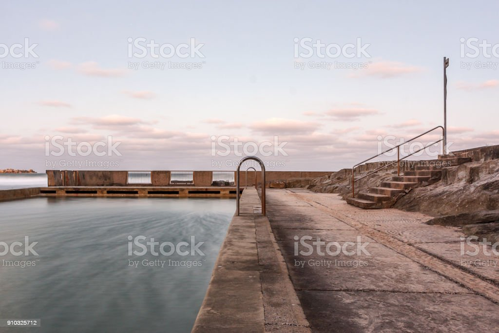 Yamba Rock Pool, Yamba, Australia stock photo