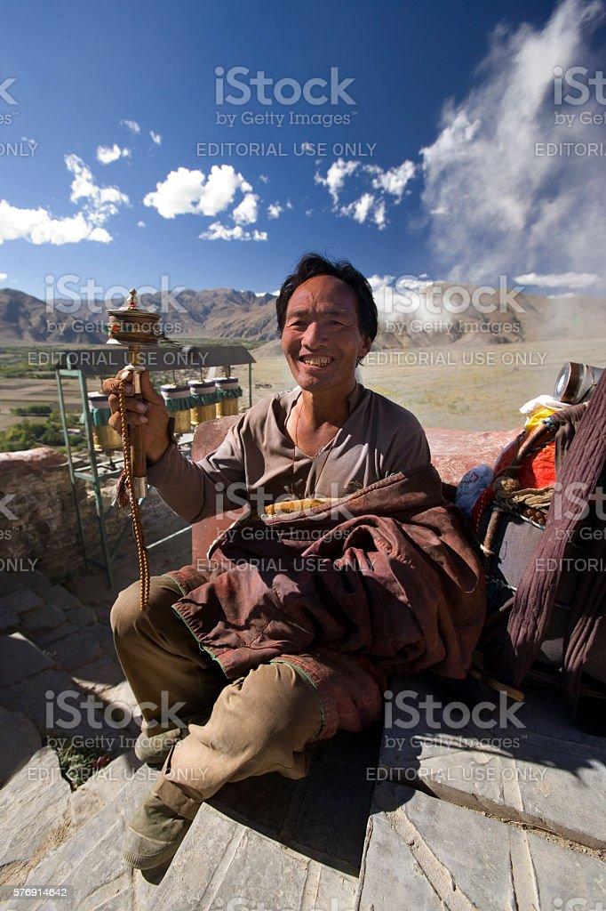 Yambulagang Monastery - Tibet stock photo