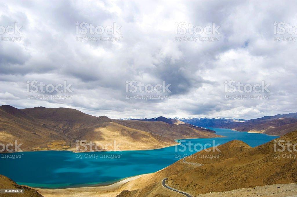 Yamdrok-Tso Lake, Tibet stock photo