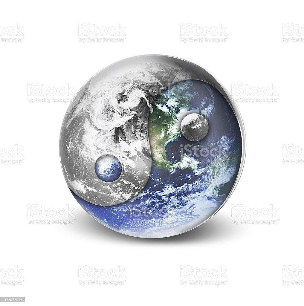 yang yin world royalty-free stock photo