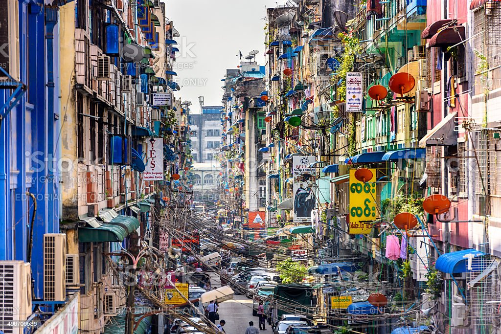 Yangon Alleyway stock photo