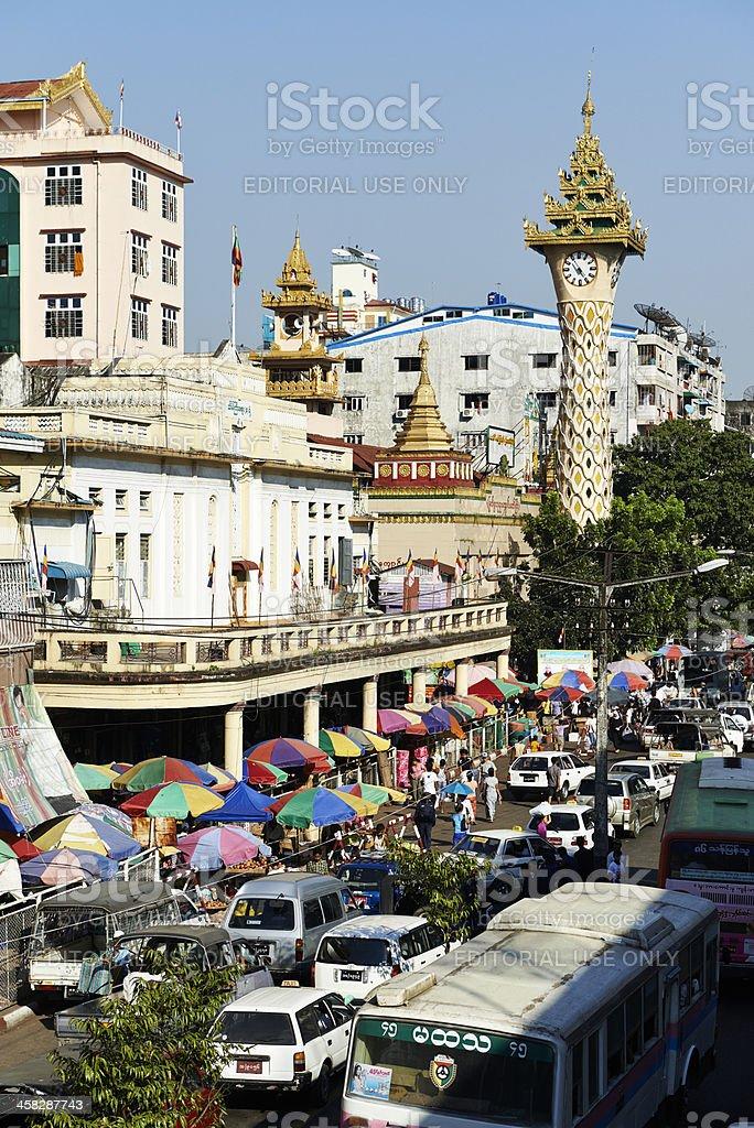 Yangon Chinatown royalty-free stock photo