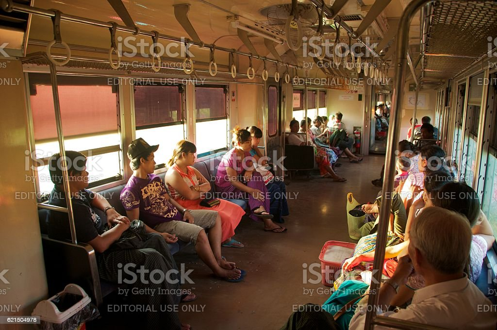yangon circle line 2 foto stock royalty-free