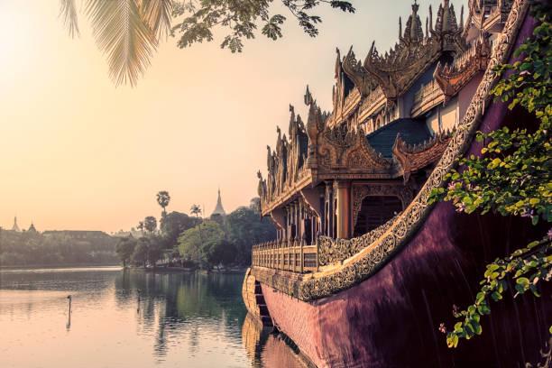 yangon city in daytime - burma home do zdjęcia i obrazy z banku zdjęć