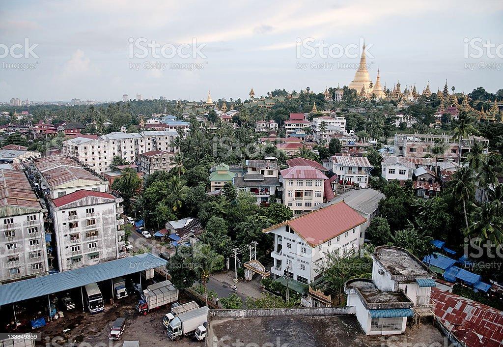 yangon city in myanmar burma stock photo