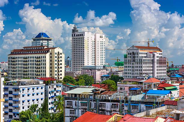 yangon centrum miasta - burma home do zdjęcia i obrazy z banku zdjęć