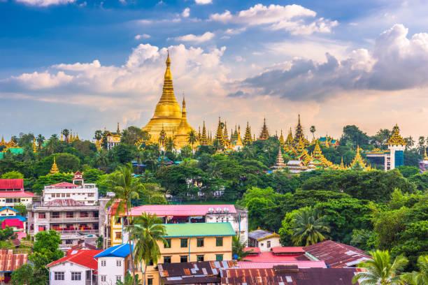 yangon, myanmar pagoda - burma home do zdjęcia i obrazy z banku zdjęć