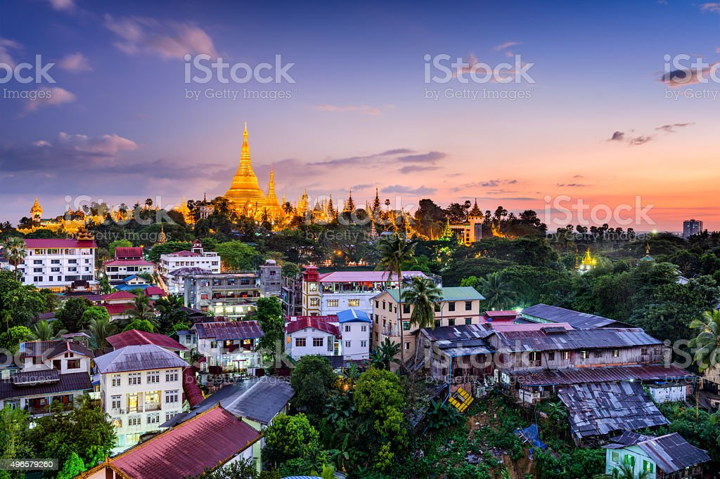 Yangon Myanmar stock photo