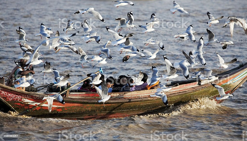 Yangon port, Myanmar royalty-free stock photo