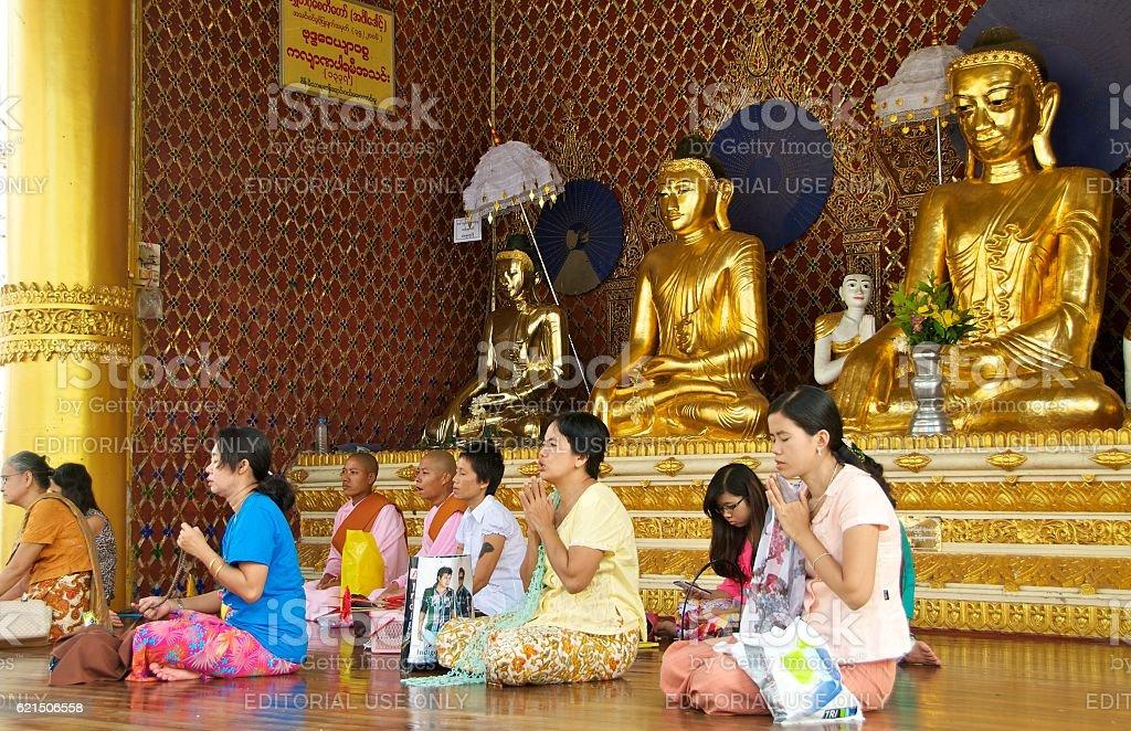 yangon shwedagon 14 Lizenzfreies stock-foto