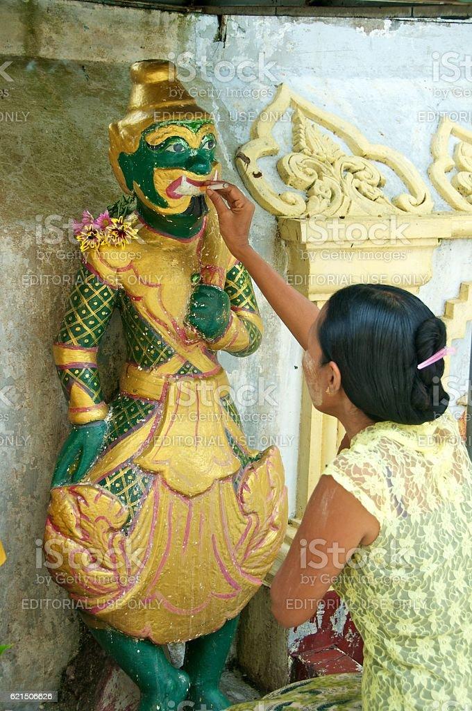 yangon shwedagon 15 foto stock royalty-free
