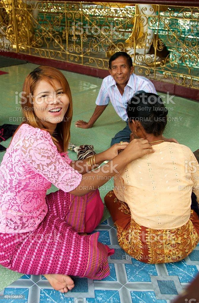 yangon shwedagon 22 foto stock royalty-free