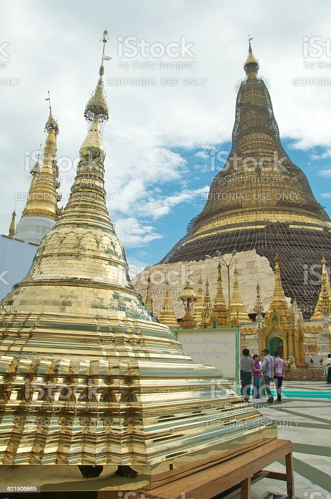 yangon shwedagon 23 foto stock royalty-free