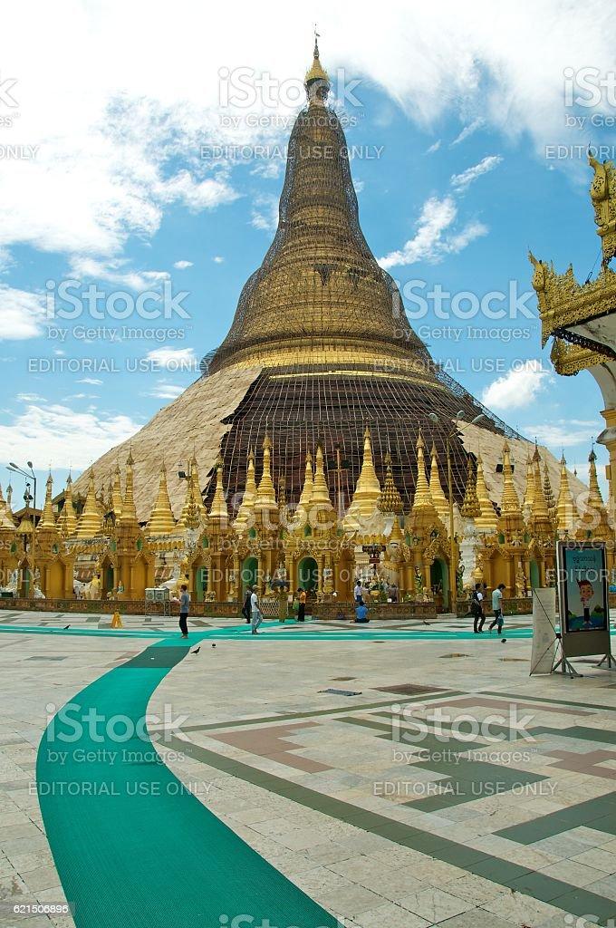 yangon shwedagon 24 photo libre de droits
