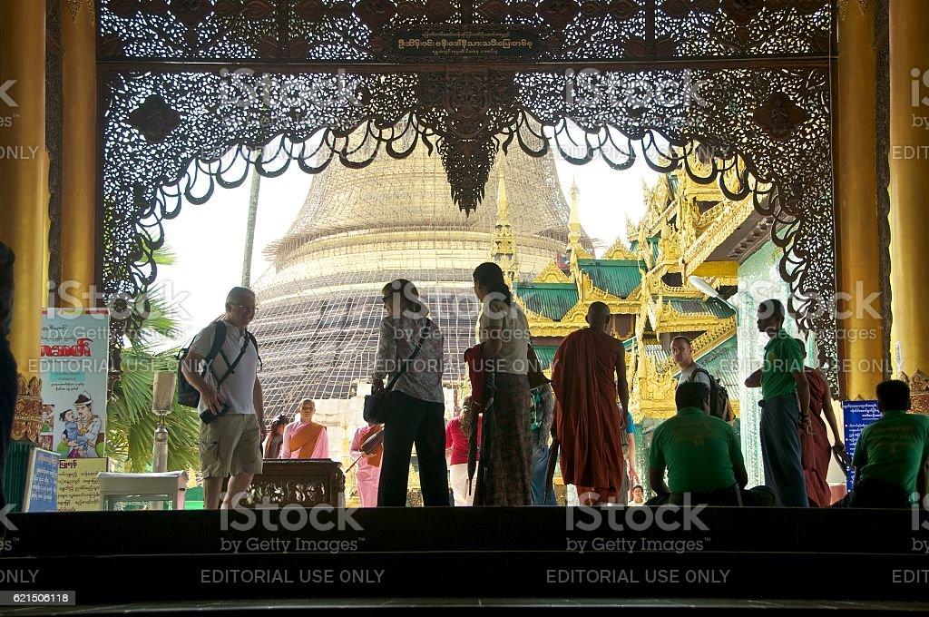 yangon shwedagon 3 photo libre de droits
