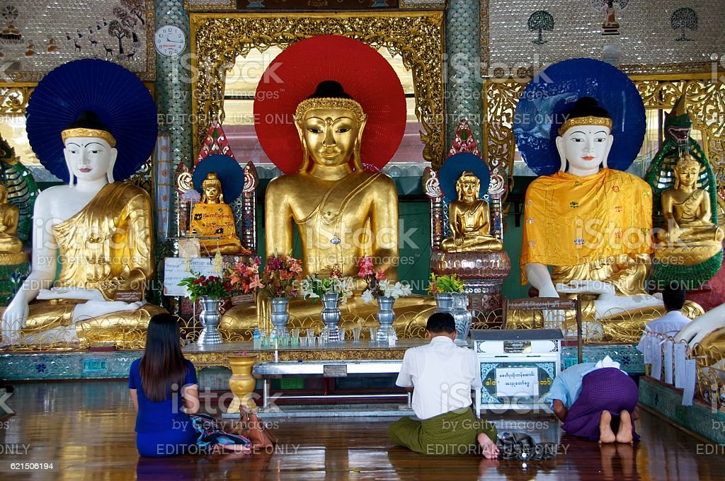 yangon shwedagon 4 foto stock royalty-free
