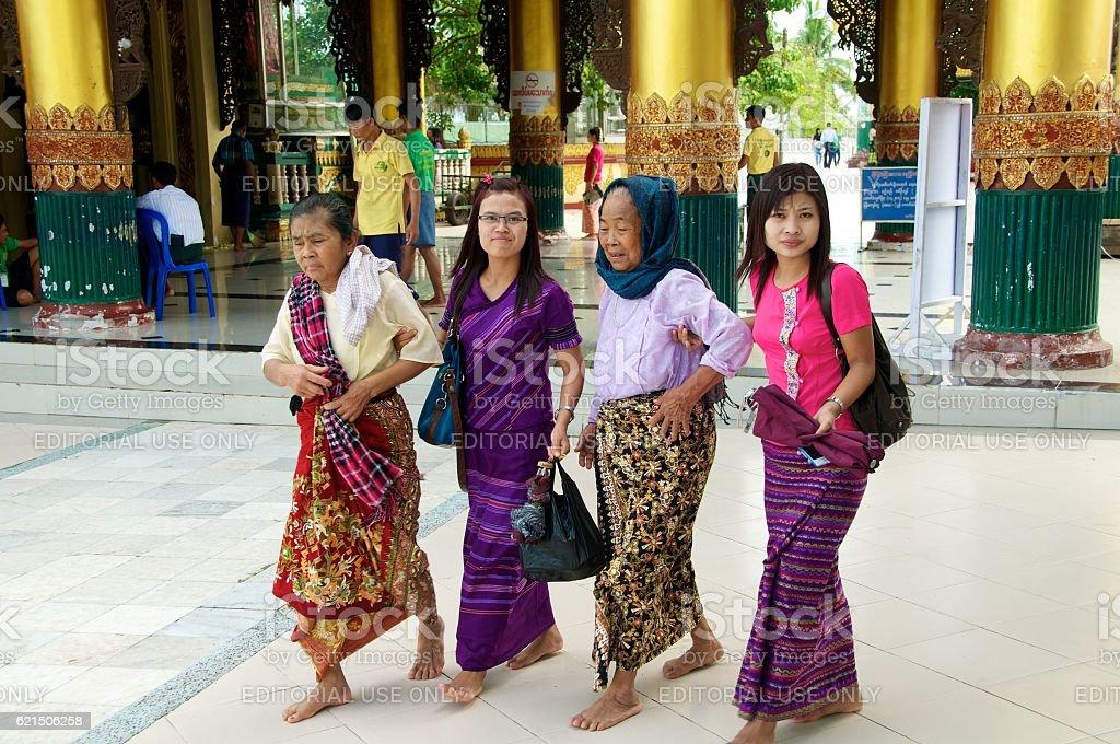 yangon shwedagon 6 Lizenzfreies stock-foto
