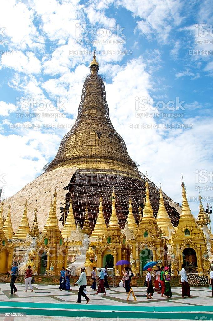 yangon shwedagon 9 foto stock royalty-free