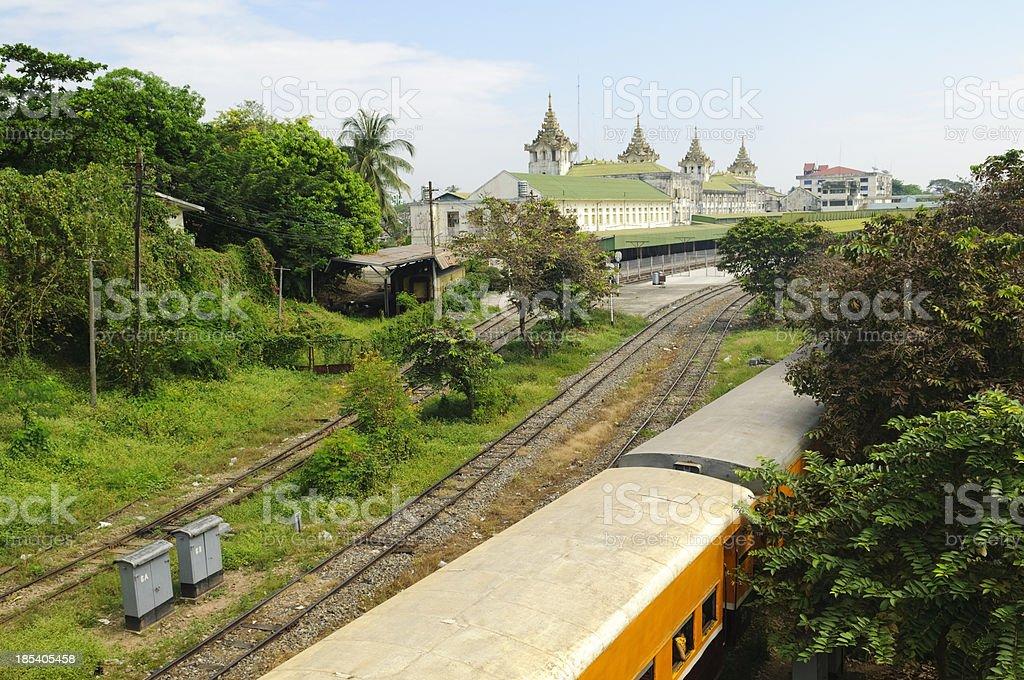 Yangon train station royalty-free stock photo