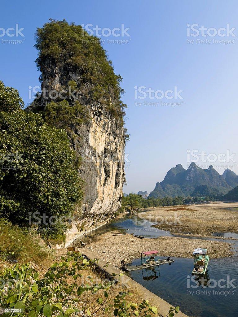 Yangshou Karst Landscape royalty-free stock photo
