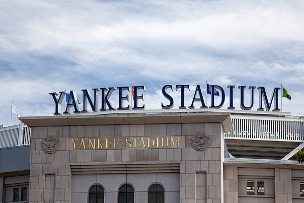 Yankee Stadium in New York City stock photo
