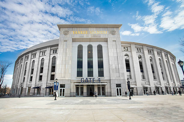 Yankee Stadium Bronx, New York City, USA - March 8, 2014: View of Yankee Stadium in the South Bronx in New York City. It is the home ballpark for the New York Yankees. major league baseball stock pictures, royalty-free photos & images