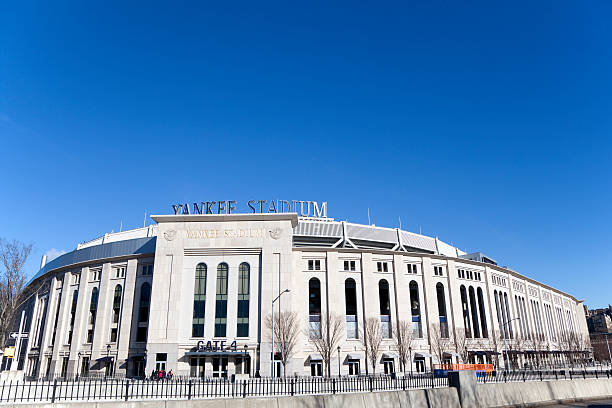 Yankee Stadium New York, NY, January 27, 2013: Yankee Stadium: Yankee Stadium is a facility used mainly for baseball. It is at the northwest corner of 161st Street and River Avenue in The Bronx, New York City. It is the home ballpark for the New York Yankees of Major League Baseball.  major league baseball stock pictures, royalty-free photos & images
