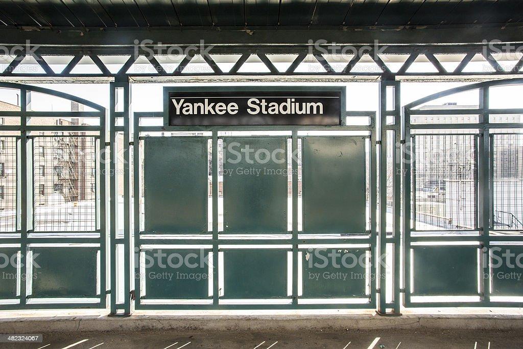 Yankee Stadium Train stock photo