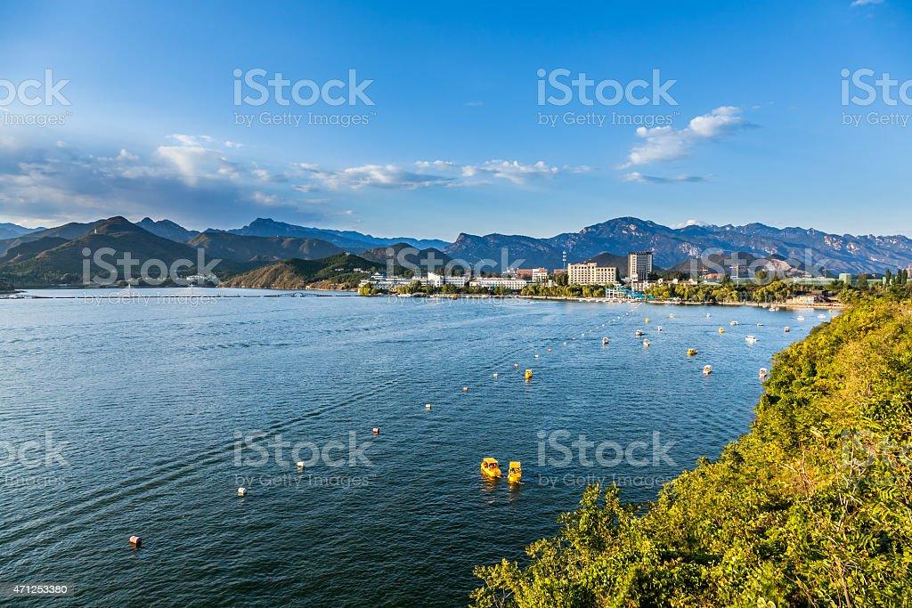 Yanqi lake park in beijing china stock photo
