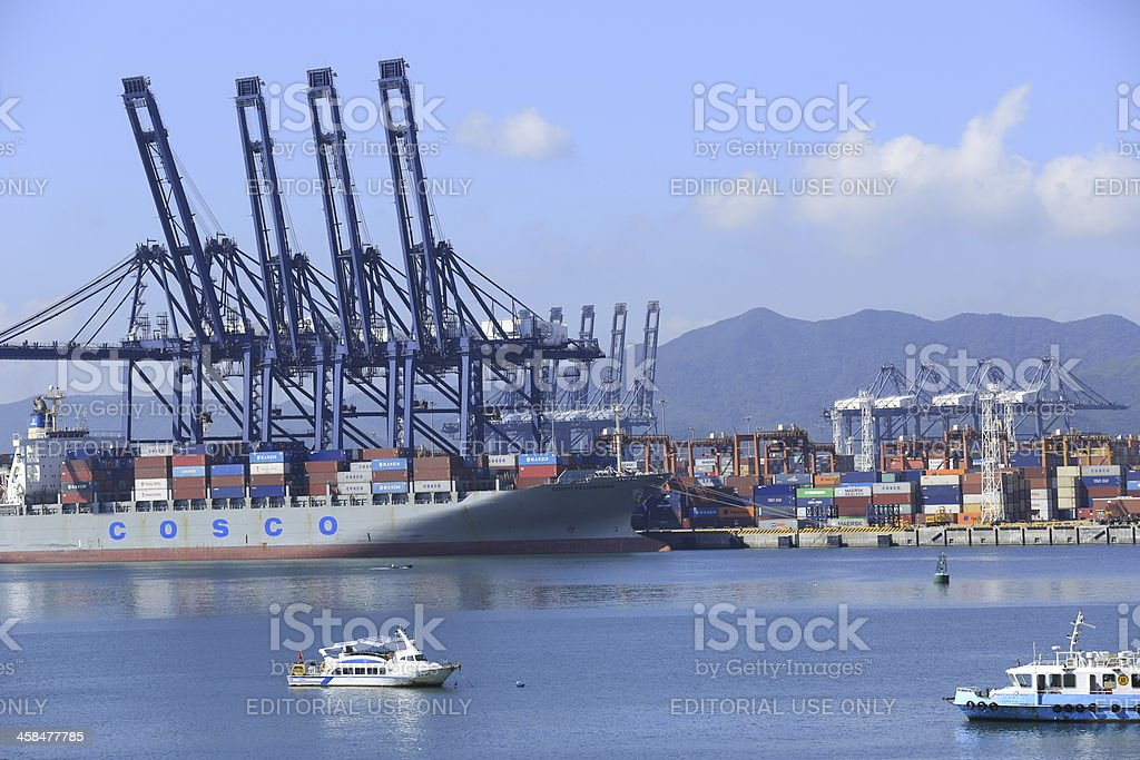 yantian international container terminal royalty-free stock photo