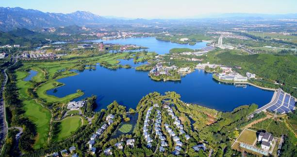 yanxi lake - san fernando valley stock photos and pictures