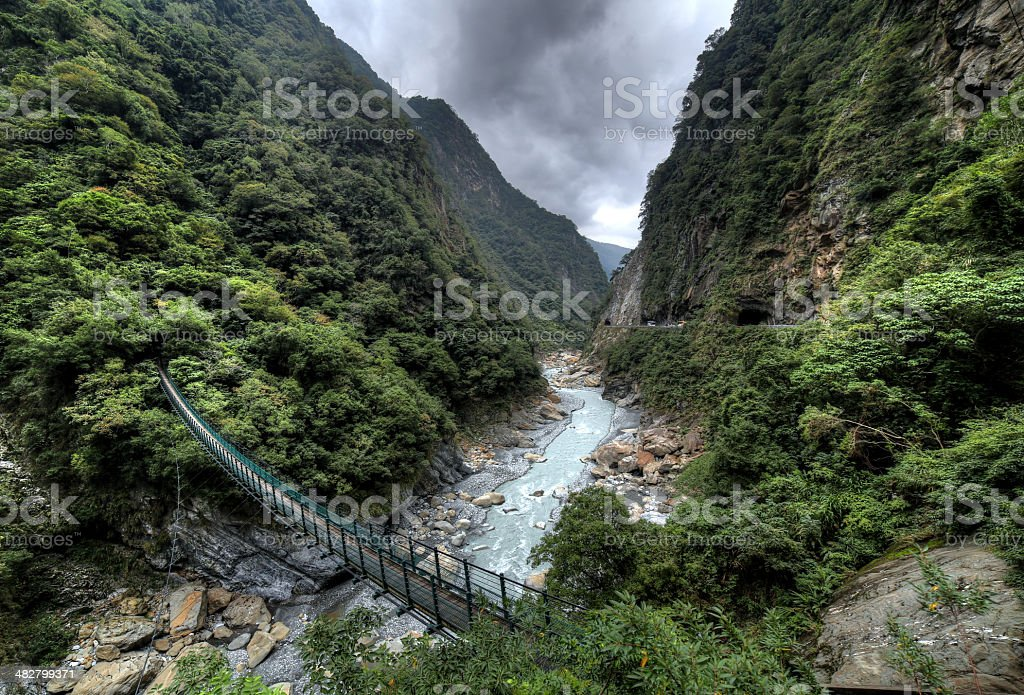 Yanzikou, Taroko Gorge stock photo
