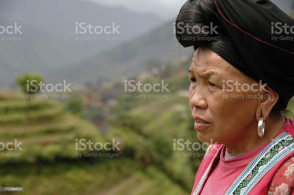 Yao ethnic minority - Longsheng, Guilin, China stock photo