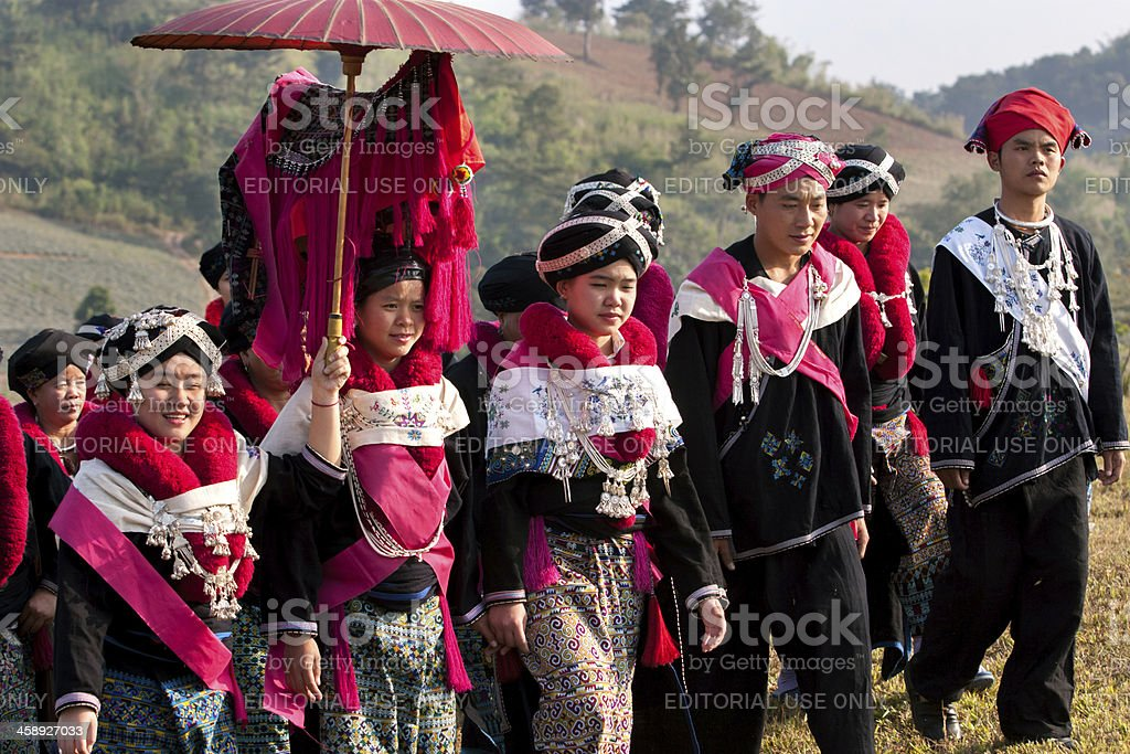 Yao Hill Tribe Clan Wedding royalty-free stock photo
