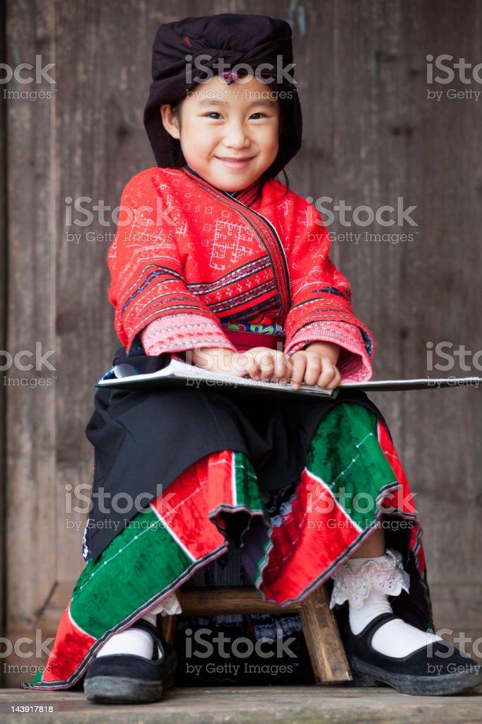 Yao Little Girl royalty-free stock photo