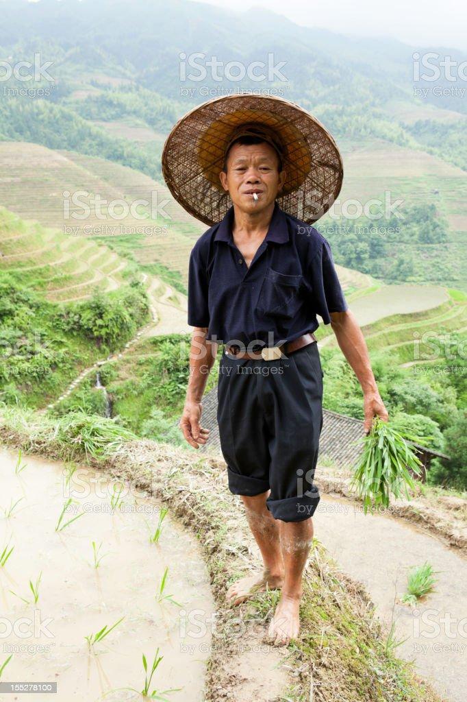 Yao Tribe Farmer royalty-free stock photo
